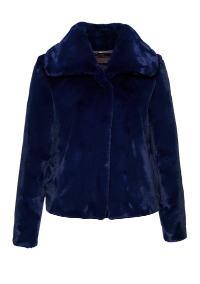 FRIEDA & FREDDIES - DAMEN - JACKE- FAKE FUR - BLAU - 3720