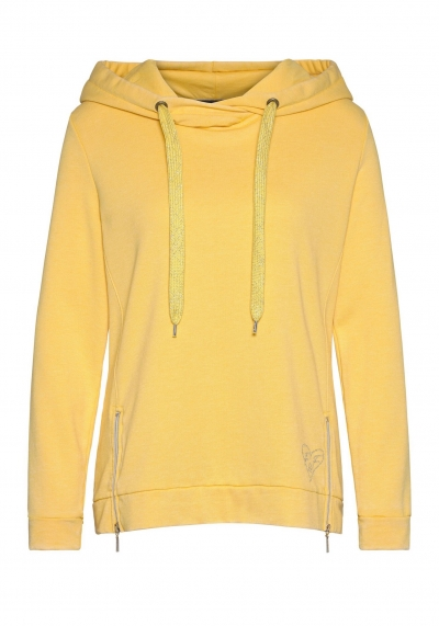 SWEAT - HOODY - GELB - ZIPP - FRIEDA & FREDDIES NY - 7235