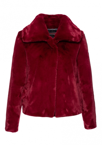 DAMEN - JACKE - FAKE FUR - ROT - FRIEDA & FREDDIES - 3720