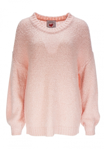 Pullover - Sweater - v-neck - dusty rosé - Frogbox - 898007