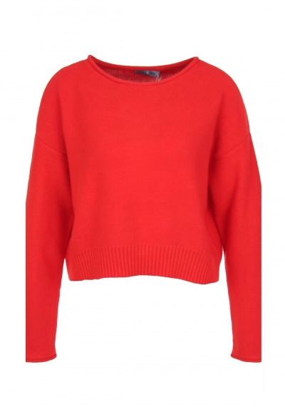 Pullover - Kurzpullover - rot - me&lou - Baumwolle - 70035
