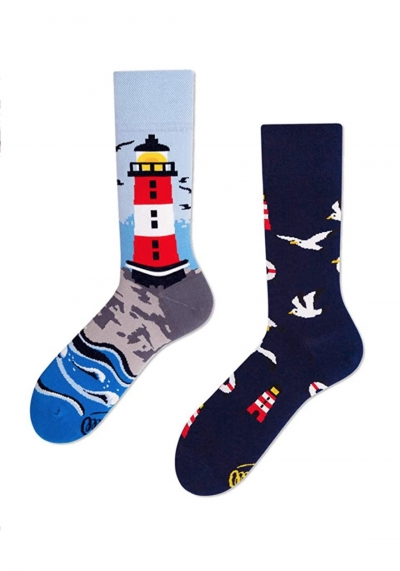 Socken - MANY MORNINGS SOCKS - blau gemustert - Leuchtturm