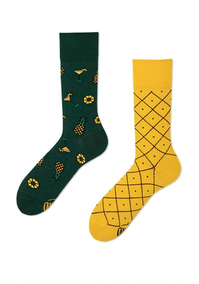 MANY MORNINGS SOCKS - SOCKEN  - GEMUSTERT - PINEAPPLE - REGULAR