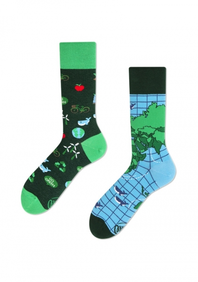 MANY MORNINGS SOCKS - SOCKEN  - BUNT - PINK - REGULAR - SAVE THE PLANET