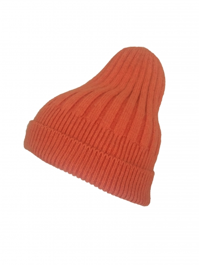 Mütze - Beanie - Rippstrick - Blogger - orange