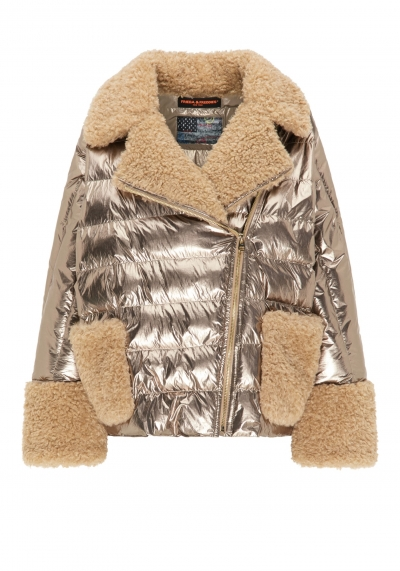 Jacke - metallic - goldfarben - fake Fur - Frieda&Freddies - 3732