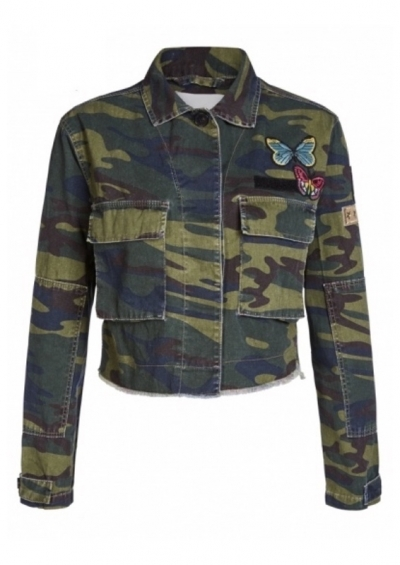 Kurzjacke, Camouflage & Patches, Oui , Art.: 59333