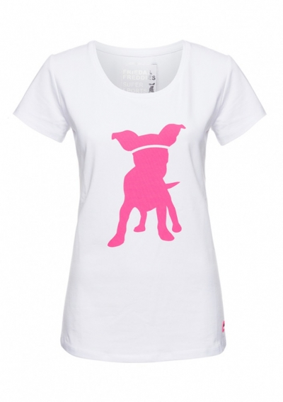 T-SHIRT - WEIß - HUND - PINK - SUPERSPORTS - FRIEDA & FREDDIES - 52107